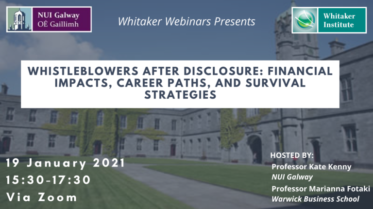Whistleblowers After Disclosure: Financial Impacts, Career Paths, and Survival Strategies