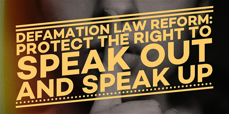 Event: Defamation Law Reform